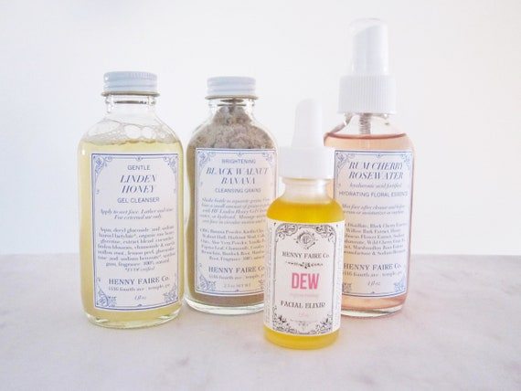 complete skin care kit for dry skin | cleanse, brighten, hydrate & renew