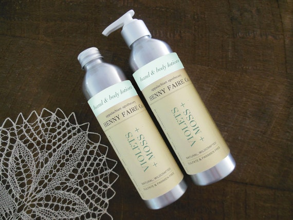 violets + moss hand & body lotion