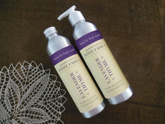 lavender + thyme hand & body wash | sulfate free