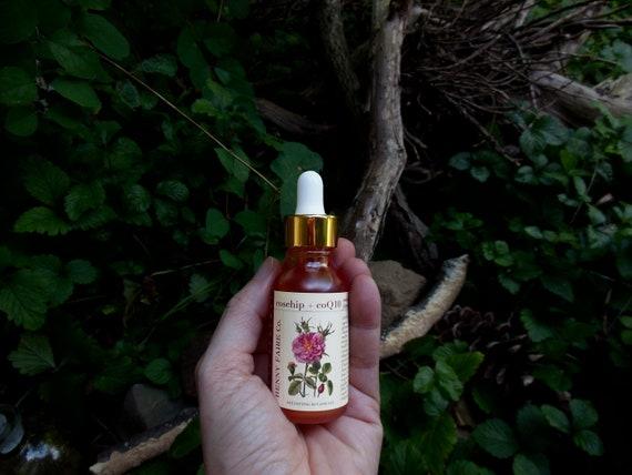 rosehip + CoQ10 antioxidant face serum