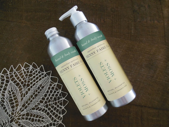 violets + moss hand & body wash | sulfate free