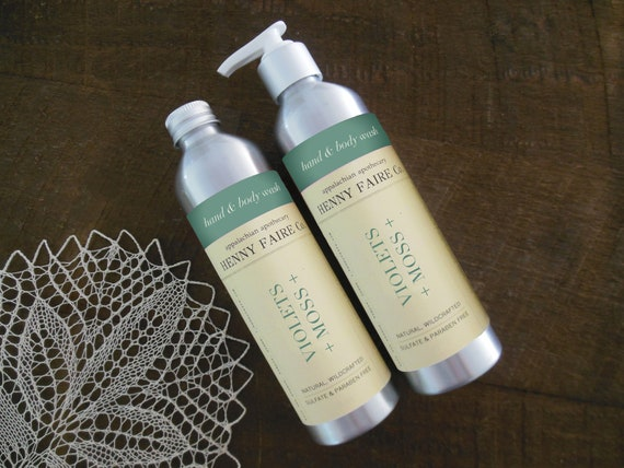 violets + moss hand & body wash | sulfate free | CLEARANCE SALE