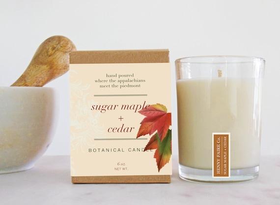 sugar maple + cedar botanical candle | seasonal scent