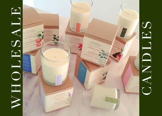 48 bulk candles for resale   wholesale natural candles of soy coconut wax & artisan fragrance in 8 oz jar   appalachian made
