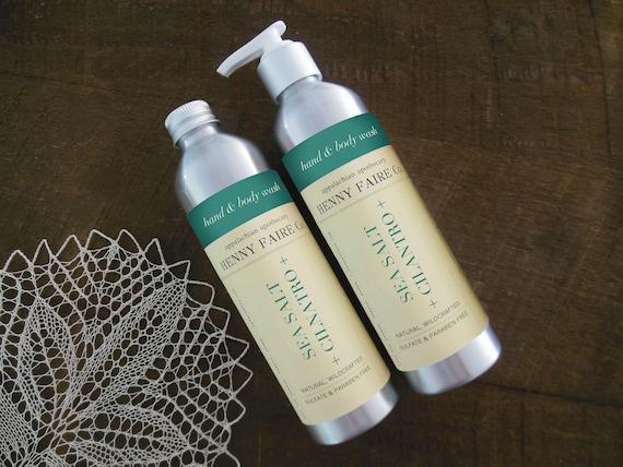 sea salt + cilantro hand & body wash | sulfate free