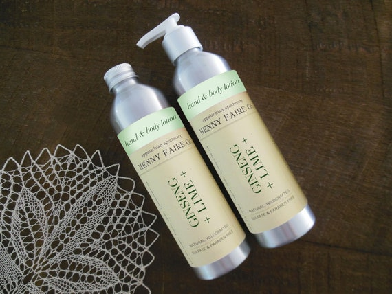 ginseng + lime hand & body lotion