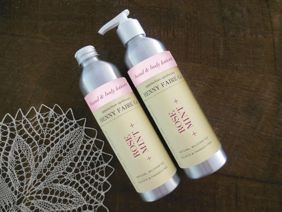 rose + mint hand & body lotion