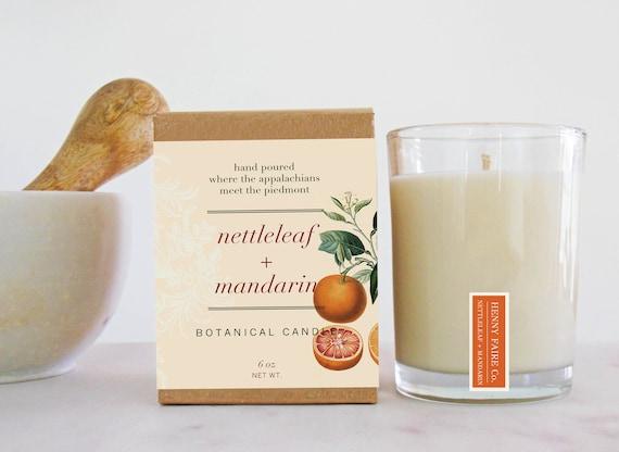 nettleleaf + mandarin botanical candle