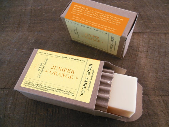 juniper + orange soap | luxury natural citrus soap with juniper berry & evergreen | 4 oz apothecary soap