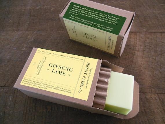 ginseng + lime botanical bath bar