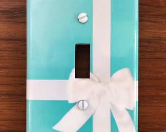 866696759f Tiffany Box light switch plate wall cover // Personalized free black or  white // FAST SHIPPING !!