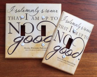 Harry Potter light switch plate quote cover // I solemnly swear that I'm up to no good // SAME DAY SHIPPING**