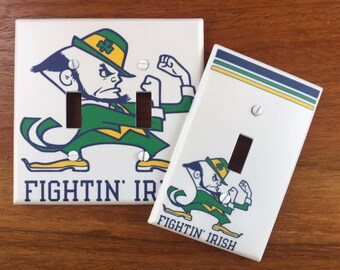 Notre Dame Fighting Irish Light switch cover // Back to School // SAME DAY SHIPPING**