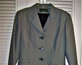 Coatdress 8, Dress, Harve Benard Houndstooth Poly/Wool, Career Coat Dress, - see details