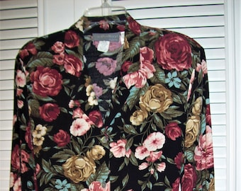 Dress 10- 12, Carol Anderson Maxi Long Floral FIVE STAR Dress, Glorious Vintage Find !!!    see details