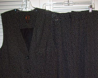 10728a3301fb71 Vintage Ellen Tracy Two Piece Vest and Pants REDUCED TODAY TO 30.00 Size 8  - 10 see details