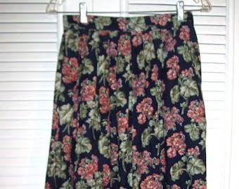Skirt 4, Vintage Herman Geist Pinwale Corduroy Maxi Skirt Size 4 Small