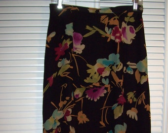 Vintage Silk Maxi Skirt by Harold's. Gorgeous Fall Colors. Size 8