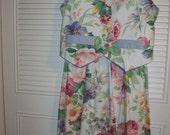 Dress 12, Vintage Floral Vest and Maxi Skirt, Summer Finale Outfit. BEAUTIFUL Size 12