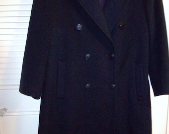 3a999f012b206 Vintage Forecaster of Boston 100% Wool Double-Breasted Navy Coat Size 14