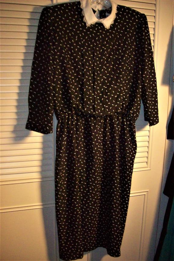 Dress 12, Blouson Dress, Elastic Waist, Peter Pen