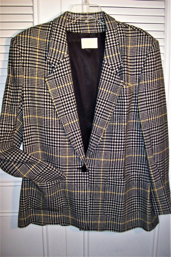 Blazer 14, Pendleton Glen Plaid Wonderful Traditional Blazer Jacket. All Wool, Wear Now Through Out Year! PERFECT = see details