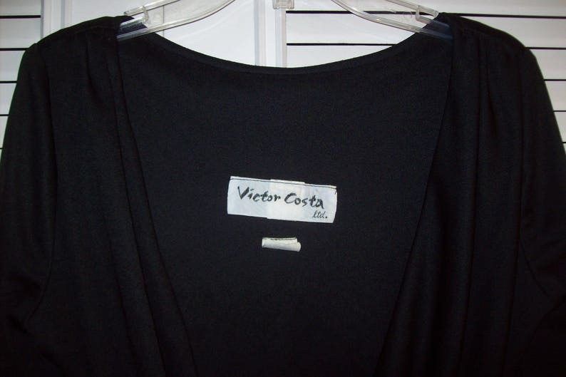 Little Black Dress Front Scooped Neck JUST REDUCED  Back Shown First Victor Costa 6 see details Bare Back with Drape Dress 6