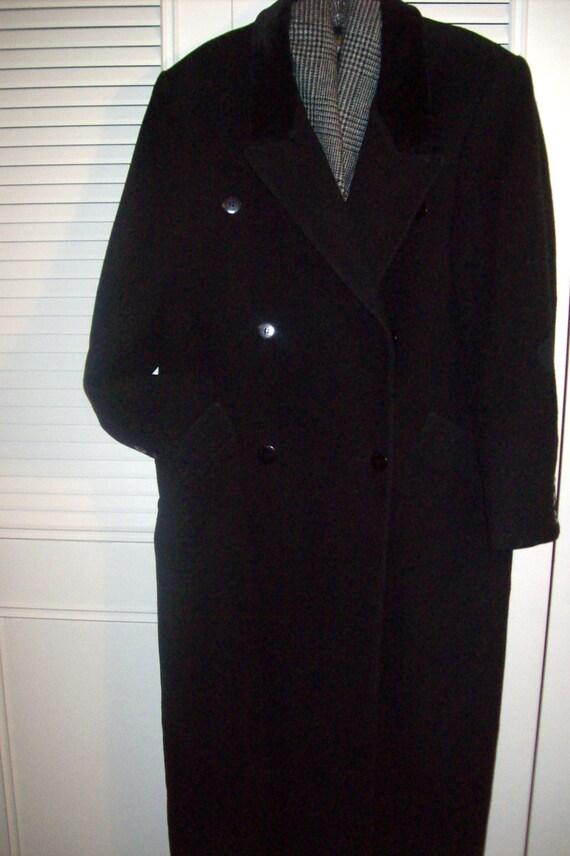 Coat 8 - 10, Vintage Black Wool Classic Preppy Ma… - image 1