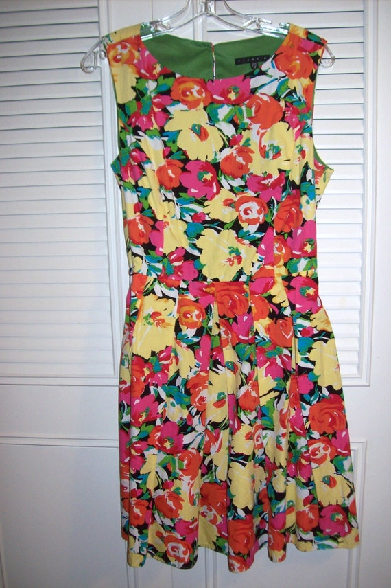 Sundress 12, Vintage  Floral  Cotton Sundress Flir