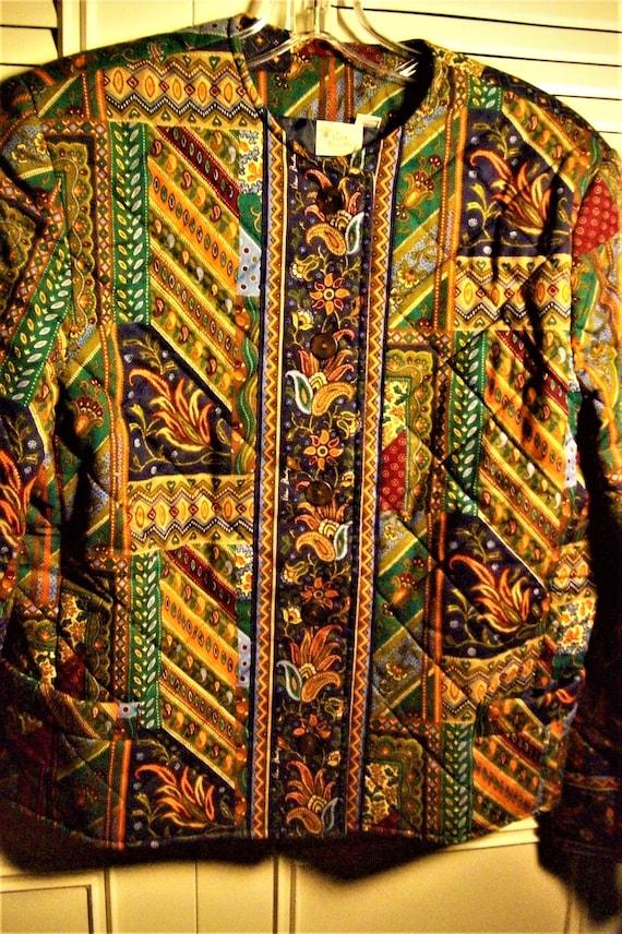 Vera  Bradley Medley Patchwork Print Quilted Jacke