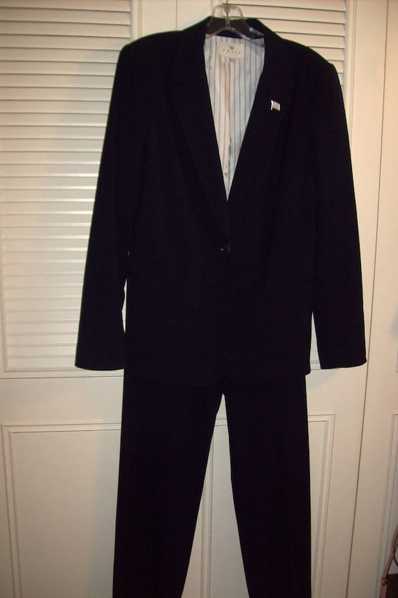 Pantsuit 14, Navy Pantsuit, Smartly Tailored Pants