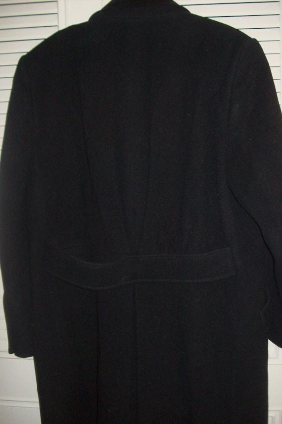 Coat 8 - 10, Vintage Black Wool Classic Preppy Ma… - image 4