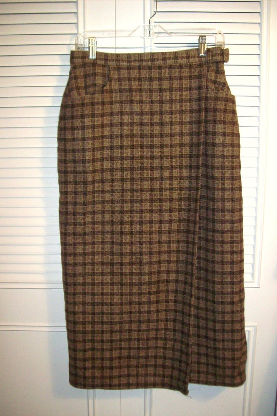7eb6d973e Skirt 12 Woolrich Wool Maxi Wrap Skirt THE ULTIMATE WARMY | Etsy