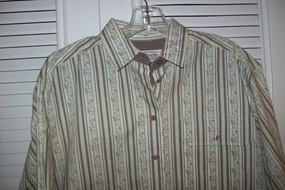 Vintage Talbot's Country Calico Striped  Career Sh