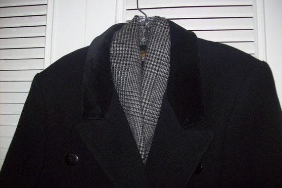 Coat 8 - 10, Vintage Black Wool Classic Preppy Ma… - image 3