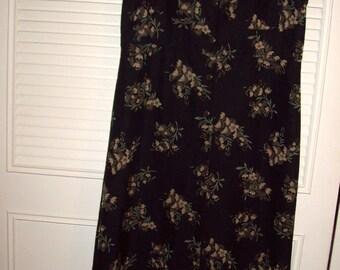 Vintage Maxi (very) Preppy Grunge Transitional Dress Med-large