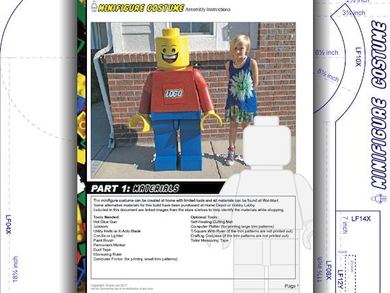 Costume Tutorial Lego Mega Blok Inspired Child Minifigure Etsy