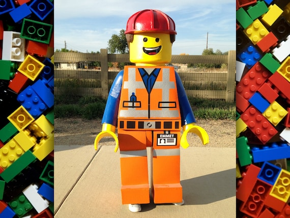 & LEGO Emmet minifigure costume. Made to order life-size