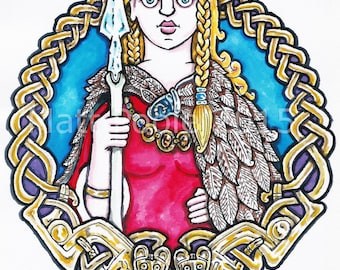 Freyja Greetings Card