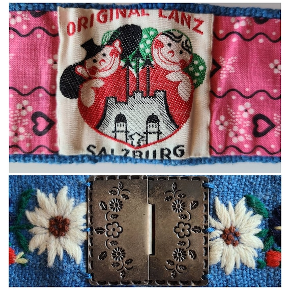 Original Lanz of Salzburg Embroidered Belt   30's… - image 2