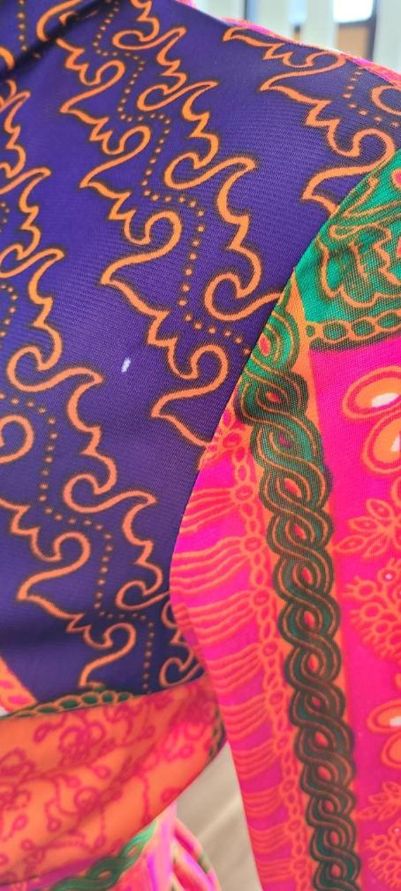 Vintage 70's Psychedelic Print Maxi   Butterflies… - image 6