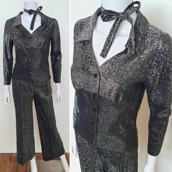 1970's Lurex Disco Pantsuit