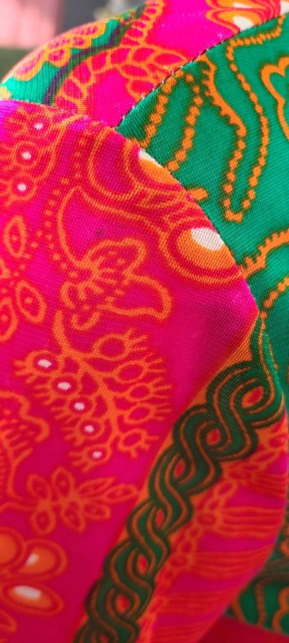 Vintage 70's Psychedelic Print Maxi   Butterflies… - image 8