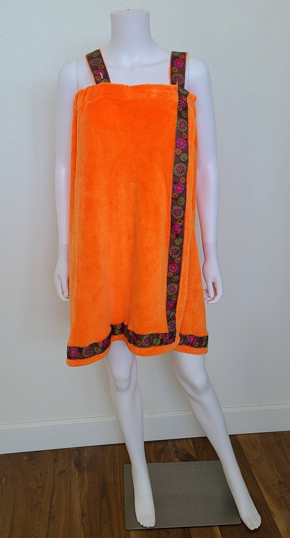 Vintage Crush Orange Towel Dress | Delight | Terry
