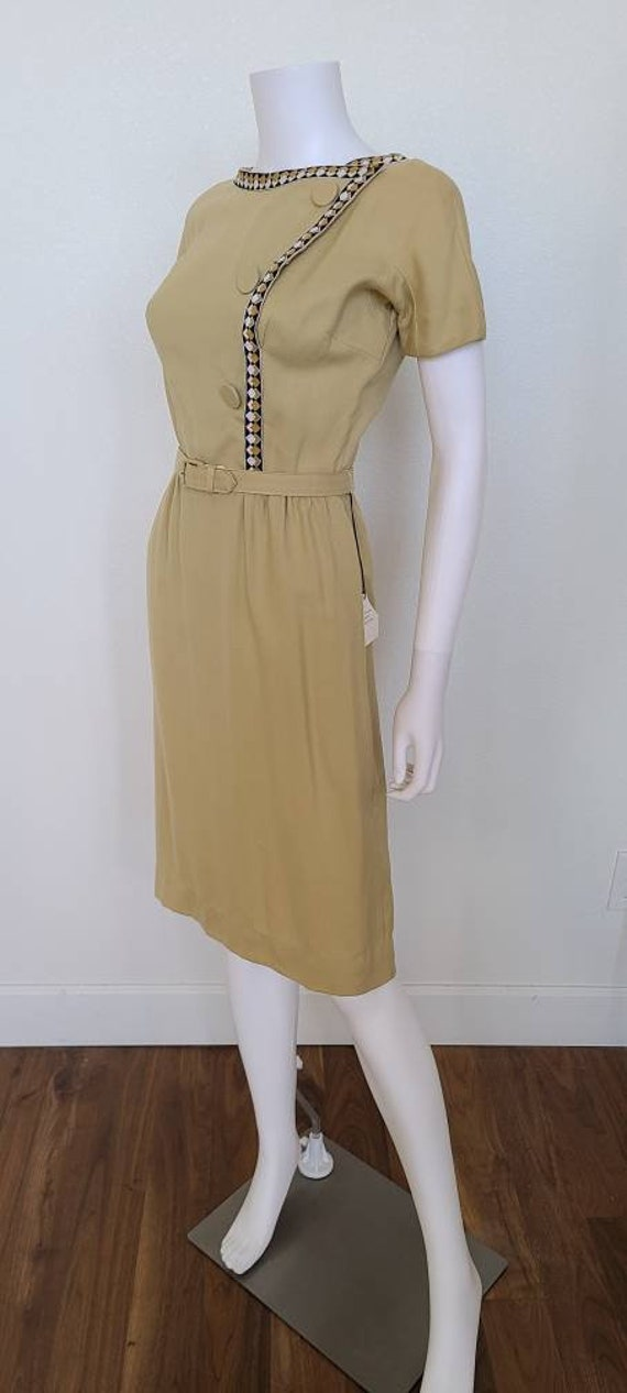 Deadstock 1960's Mustard color Day Dress