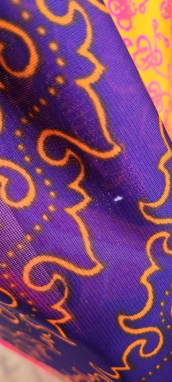 Vintage 70's Psychedelic Print Maxi   Butterflies… - image 7