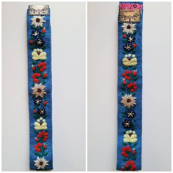 Original Lanz of Salzburg Embroidered Belt   30's… - image 3