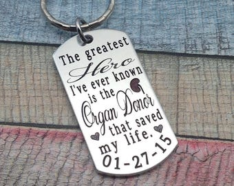 Organ Transplant Gift, Organ Recipient Key chain, Kidney Recipient, Liver Recipient, Heart Recipient, Pancreas Recipient, Lung Recipient
