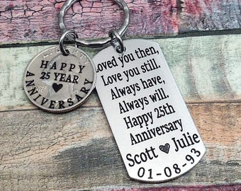 25th anniversary gifts for husband etsy