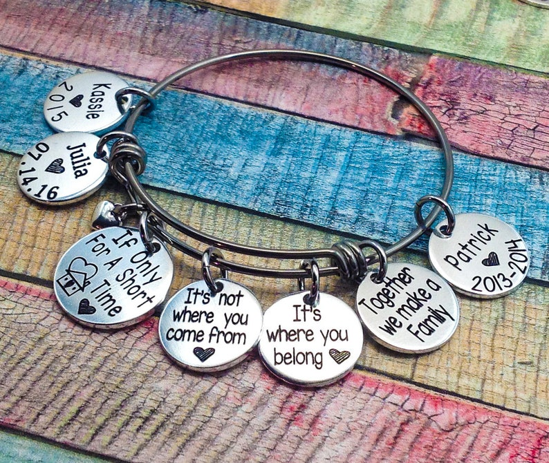Foster parent jewelry Foster Home bracelet Foster Parent gift Foster care jewelry Foster Family gift Foster Mom gift Foster Child Gift